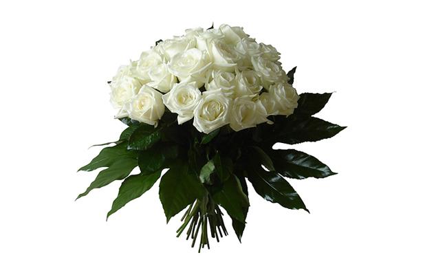 Bouquet de roses blanches © Lebouquetdefleurs.com