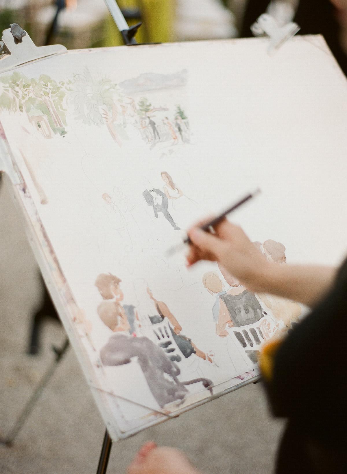 Live Painting Cérémonie laïque © Greg Fynck