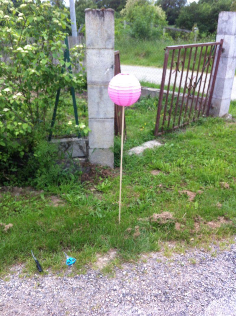 porte lanterne diy ccile - Piquet Porte Lanterne Mariage