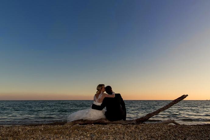 Nous, mariés sur la plage