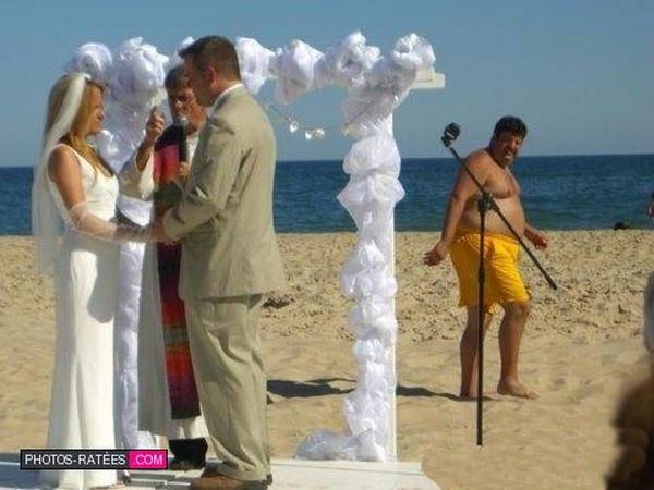 Cérémonie laïque sur la plage ratée