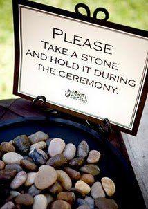 Rituel des pierres de bénédiction pour cérémonie laïque