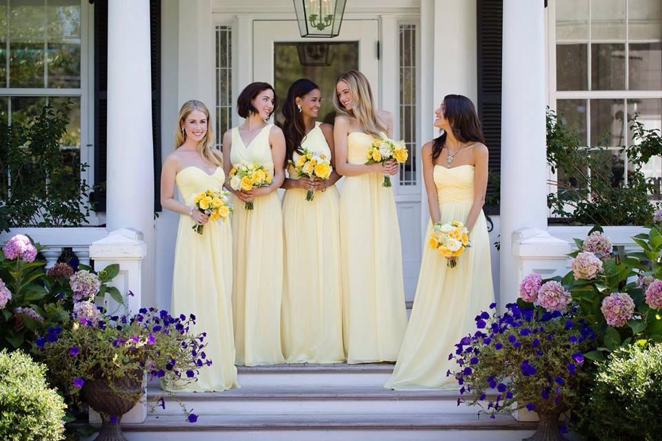 Robes jaunes demoiselles d'honneur