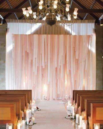 Déco rubans cérémonie laïque en intérieur