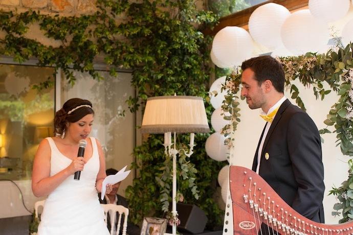 Voeux de la mariée cérémonie laïque (Diane & Jean-Seb)