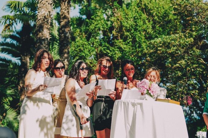 Chanson des demoiselles d'honneur pendant la cérémonie laïque d'Alicia et Xavier