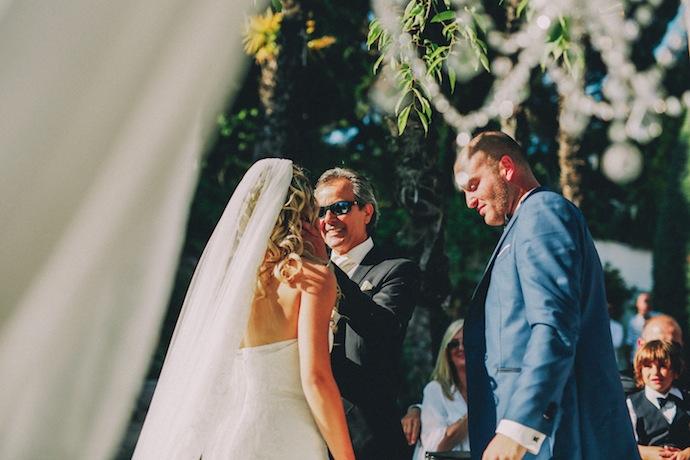 Emotion du père de la mariée - Cérémonie laïque d'Alicia et Xavier