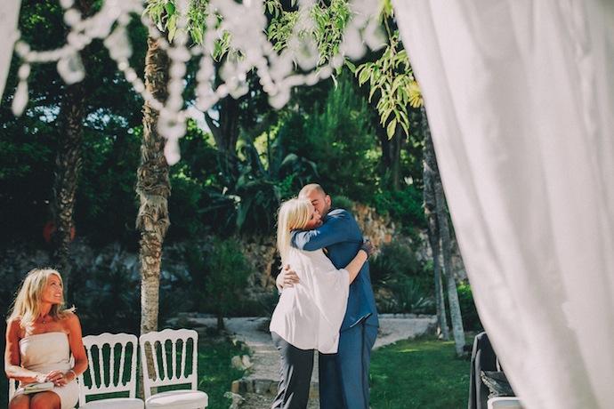 Le marié et sa maman - Cérémonie laïque d'Alicia et Xavier