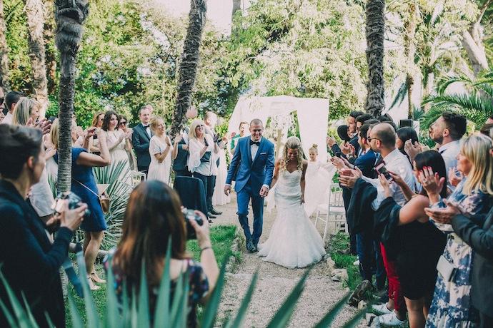 Sortie des mariés - Cérémonie laïque d'Alicia et Xavier