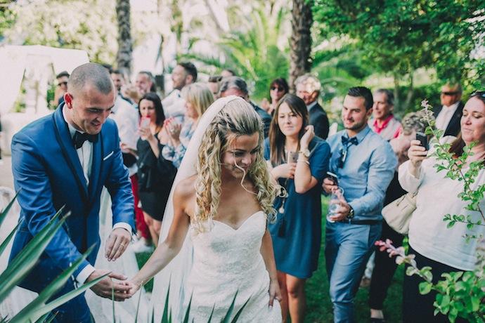 Fin de la cérémonie de mariage laïque d'Alicia et Xavier