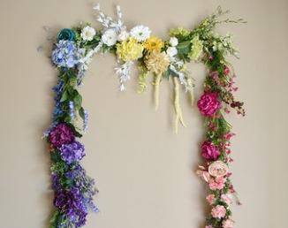 Guirlande de fleurs artificielle pour arche de cérémonie laïque