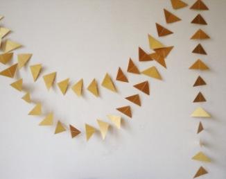 Guirlande géométrique pour arche de cérémonie laïque