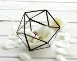 Porte-alliances terrarium géométrique