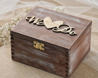Boîte en bois We do pour alliances