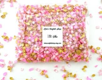 Confettis rose et gold pour sortie de cérémonie laïque