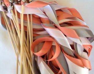 Bâtons de rubans pour sortie de cérémonie laïque