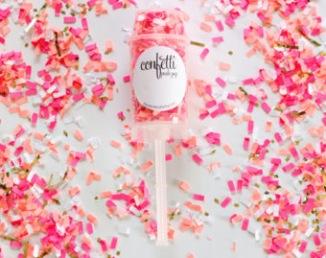 Pop-up confettis roses pour sortie de cérémonie laïque