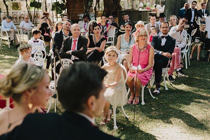 Réaction des invités - Cérémonie laïque Caroline et Eric