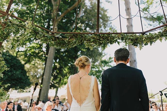 Les mariés - Cérémonie laïque de Caroline et Eric