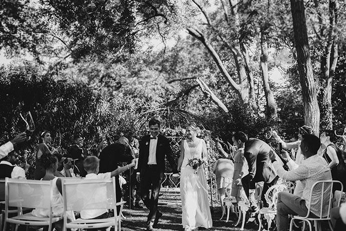 Sortie des mariés - Cérémonie laïque de Caroline et Eric