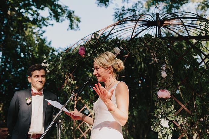 Vœux de la mariée - Cérémonie laïque Caroline et Eric