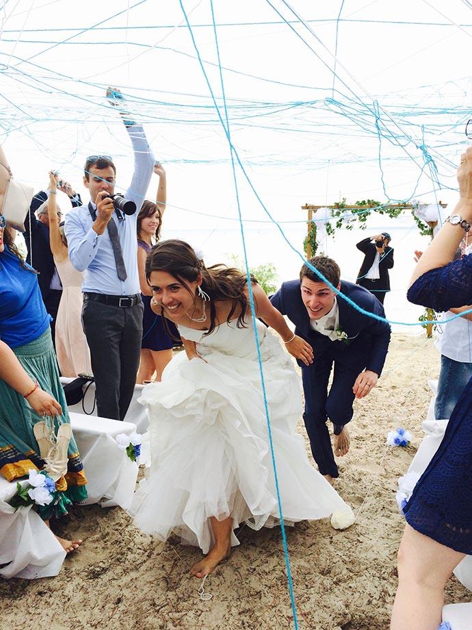 Sortie des mariés originale - Cérémonie laïque d'Ysaline et Jean