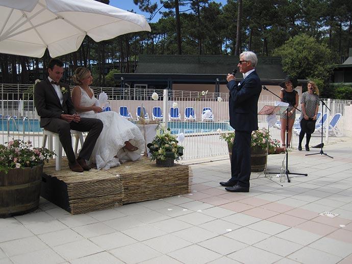 Discours pendant la cérémonie laïque de Julie et Julien