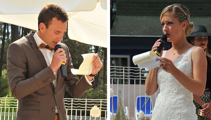 Echange de vœux de Julie et Julien