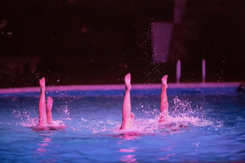 Spectacle de natation synchronisée pendant notre mariage (Nolwenn et Henri) - THE cérémonie