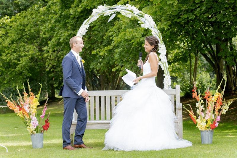 Echange de voeux de la mariée - Cérémonie laïque