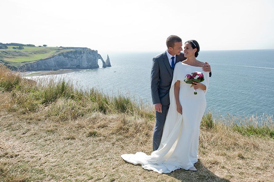 Mariage de Marine et Cédric à Étretat