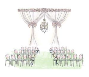Dessin cérémonie laïque © THE cérémonie / Happy Chantilly